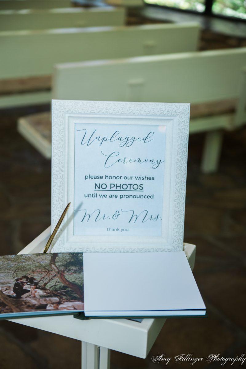 Unplugged wedding ideas, unplugged wedding signs, branson wedding photographer