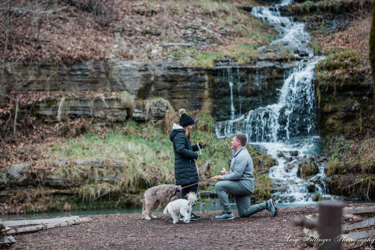 winter proposal in Branson